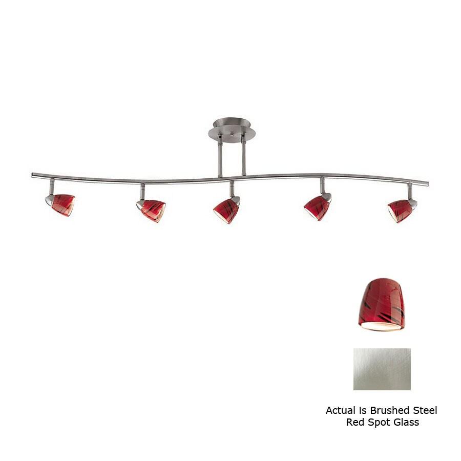 shop cal lighting serpentine 5 light 48 in brushed steel