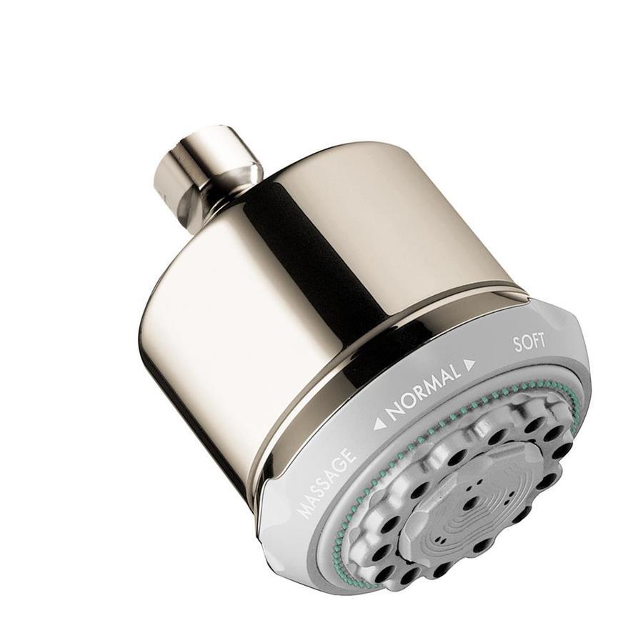 Hansgrohe HG 3.5-in 2.5-GPM (9.5-LPM) Polished Nickel 3-Spray Showerhead