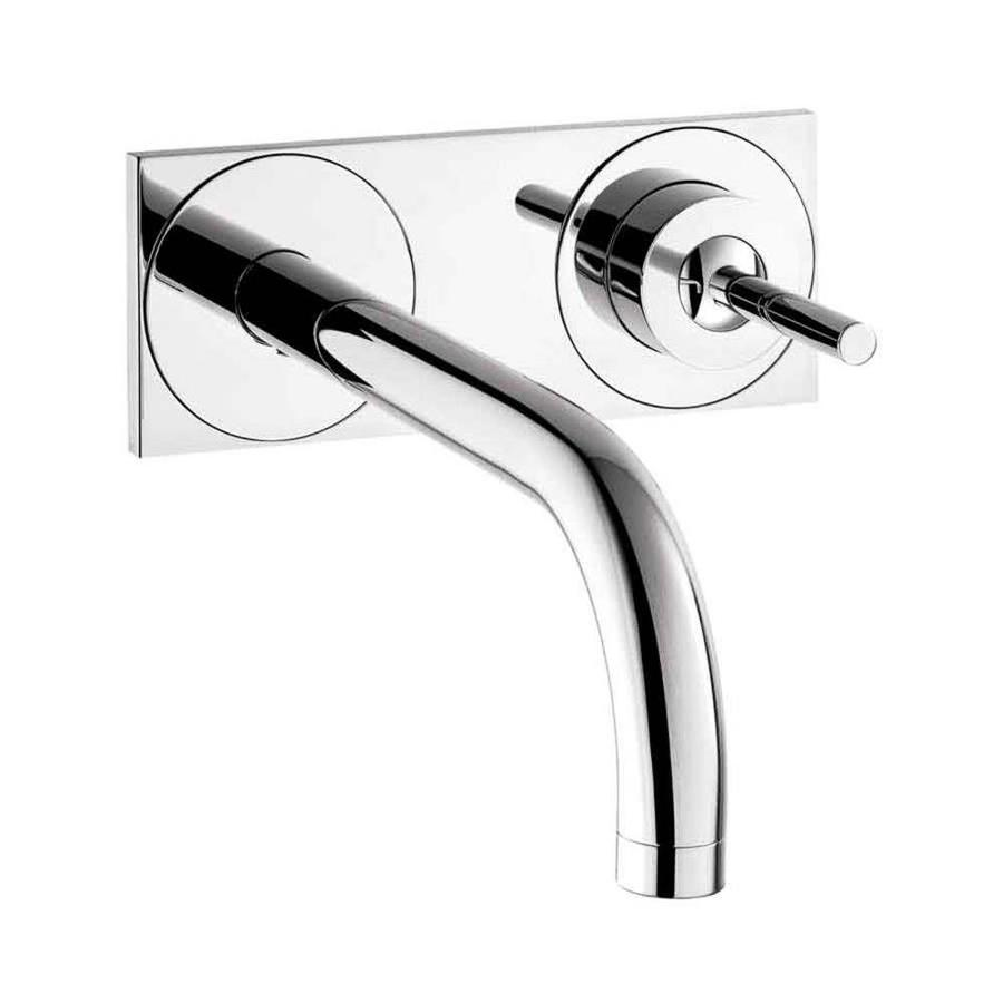 Hansgrohe Axor Uno Chrome 1-Handle 4-in Centerset WaterSense Bathroom Faucet (Drain Included)