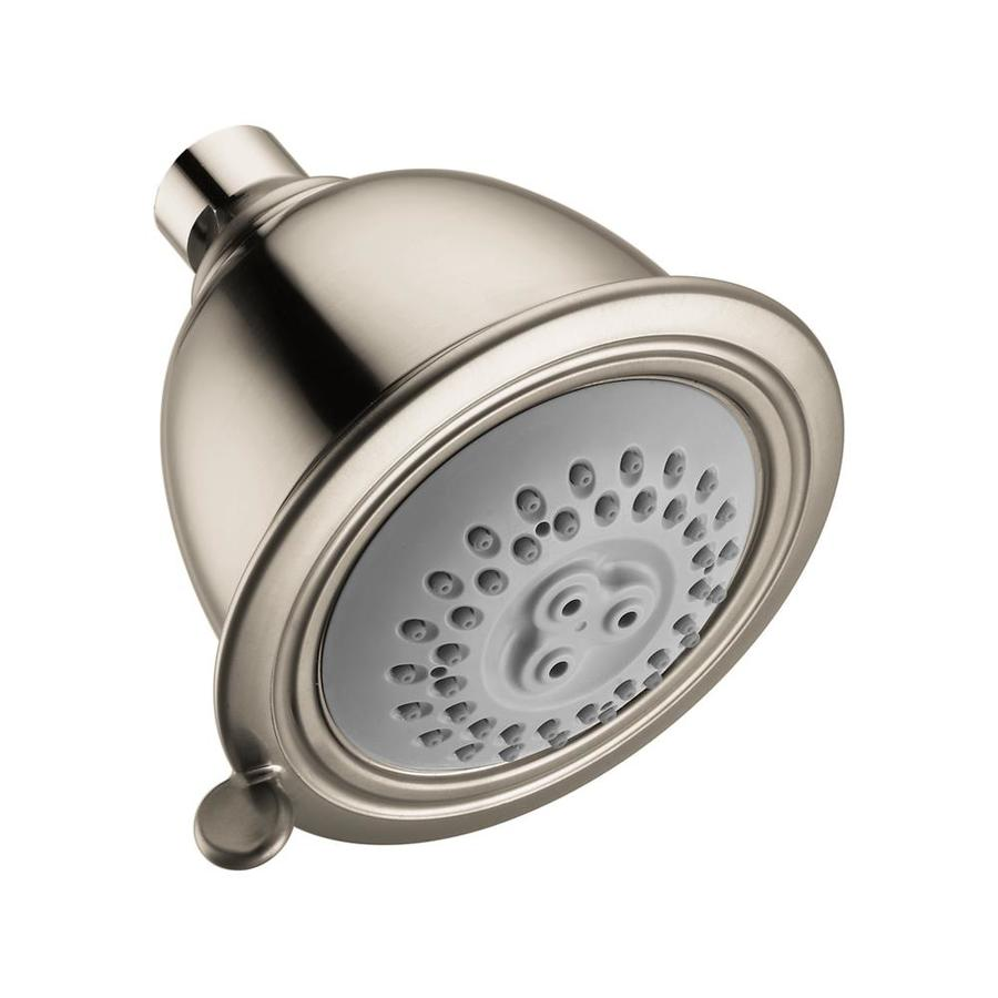 Hansgrohe Hg 3.5-in 2.5-GPM (9.5-LPM) Brushed Nickel 2-Spray Showerhead