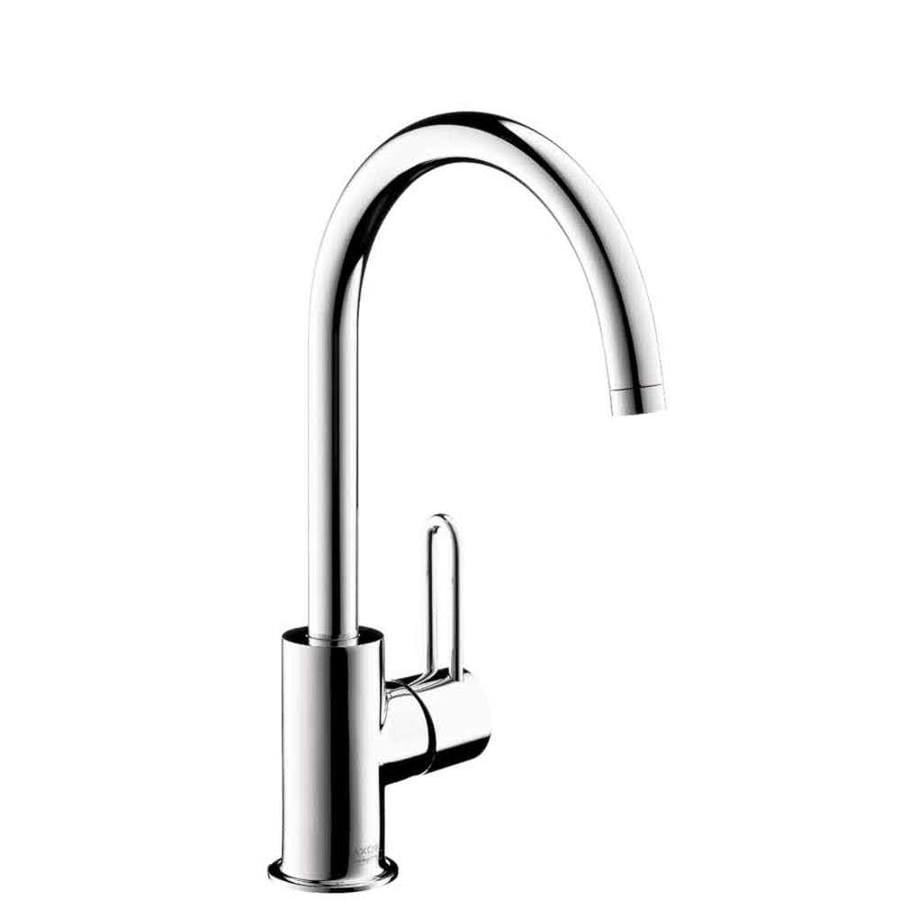 Hansgrohe Axor Uno Chrome 1-Handle Single Hole WaterSense Bathroom Faucet (Drain Included)