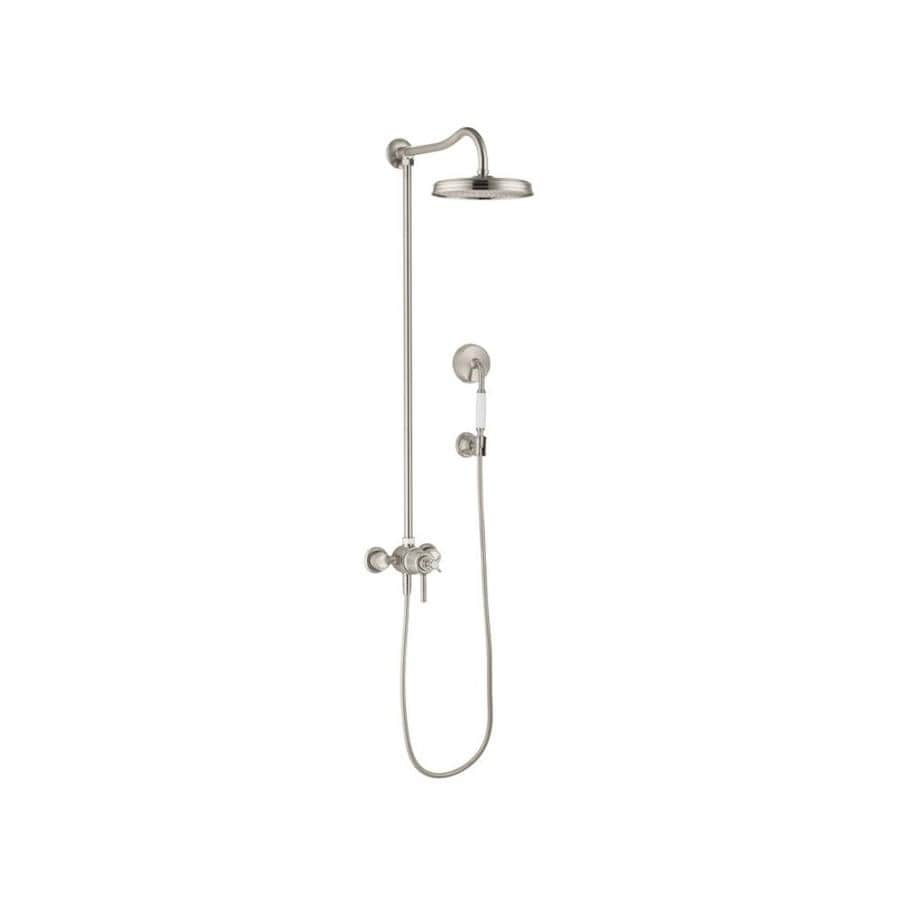 Hansgrohe Montreux Axor 10-in Brushed Nickel Showerhead with Hand Shower
