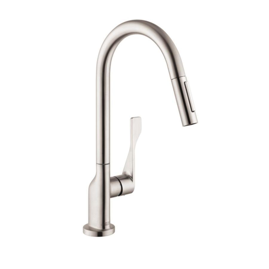 Hansgrohe Citterio Steel Optik 1-Handle Pull-Down Kitchen Faucet