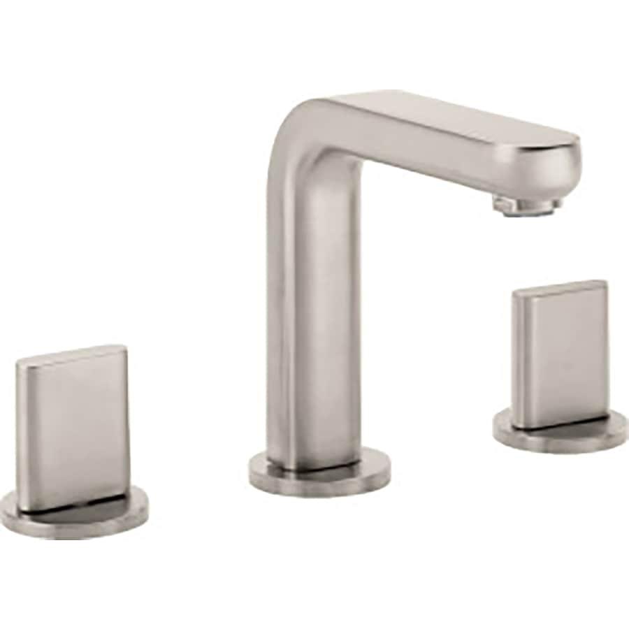 Hansgrohe Metris S Brushed Nickel 2-Handle Widespread WaterSense Bathroom Faucet (Drain Included)