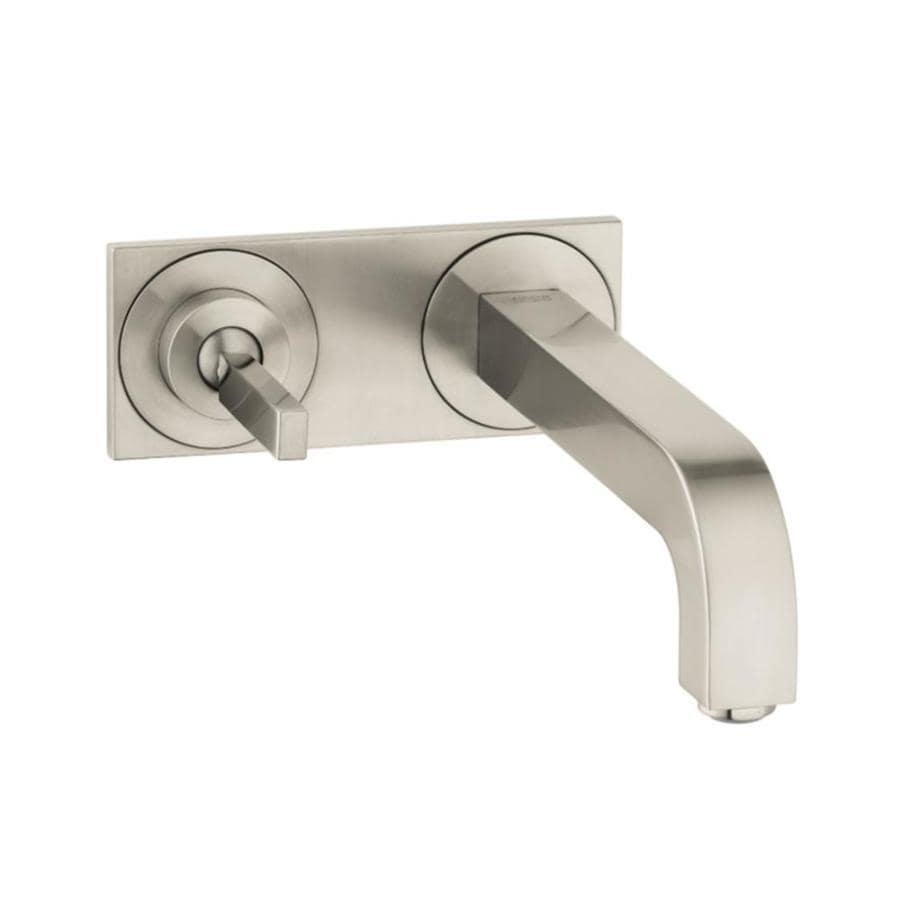 Hansgrohe Citterio Brushed Nickel 1-Handle 4-in Centerset WaterSense Bathroom Faucet