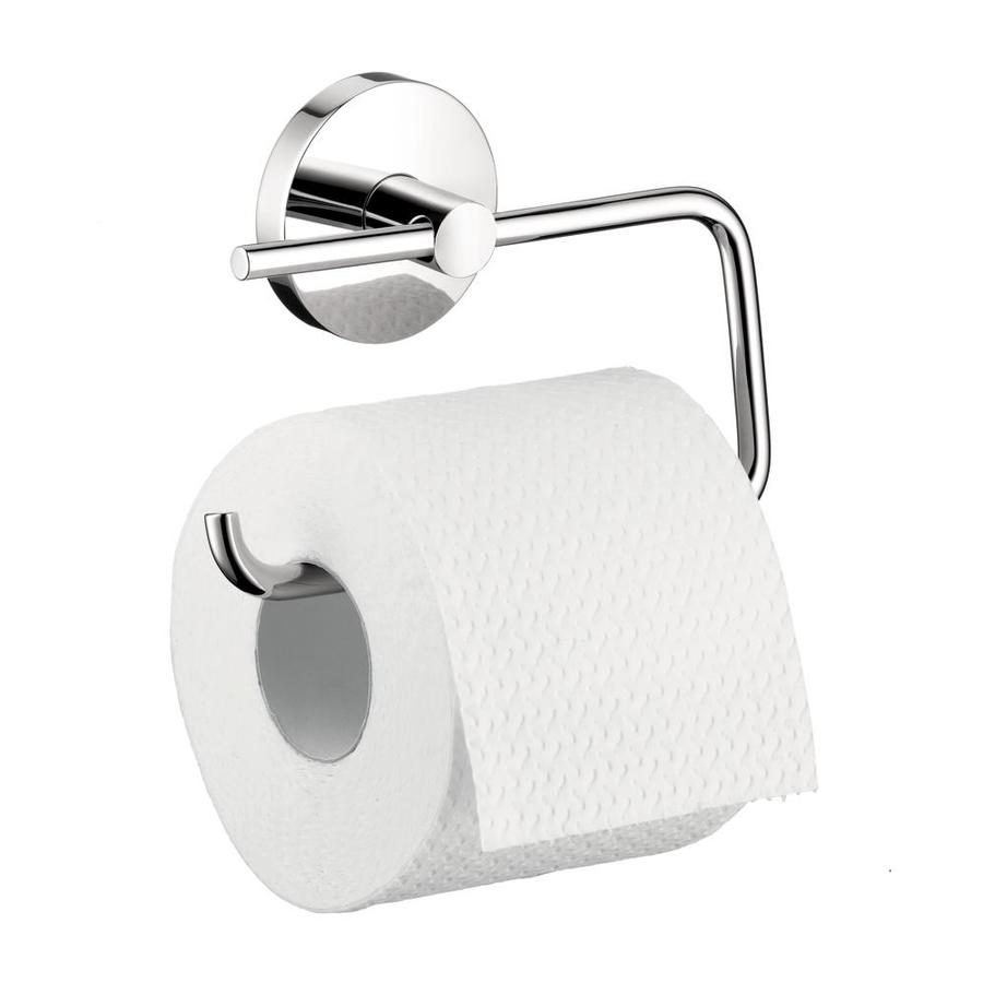Shop hansgrohe hg accessories chrome surface mount toilet for Chrome toilet accessories