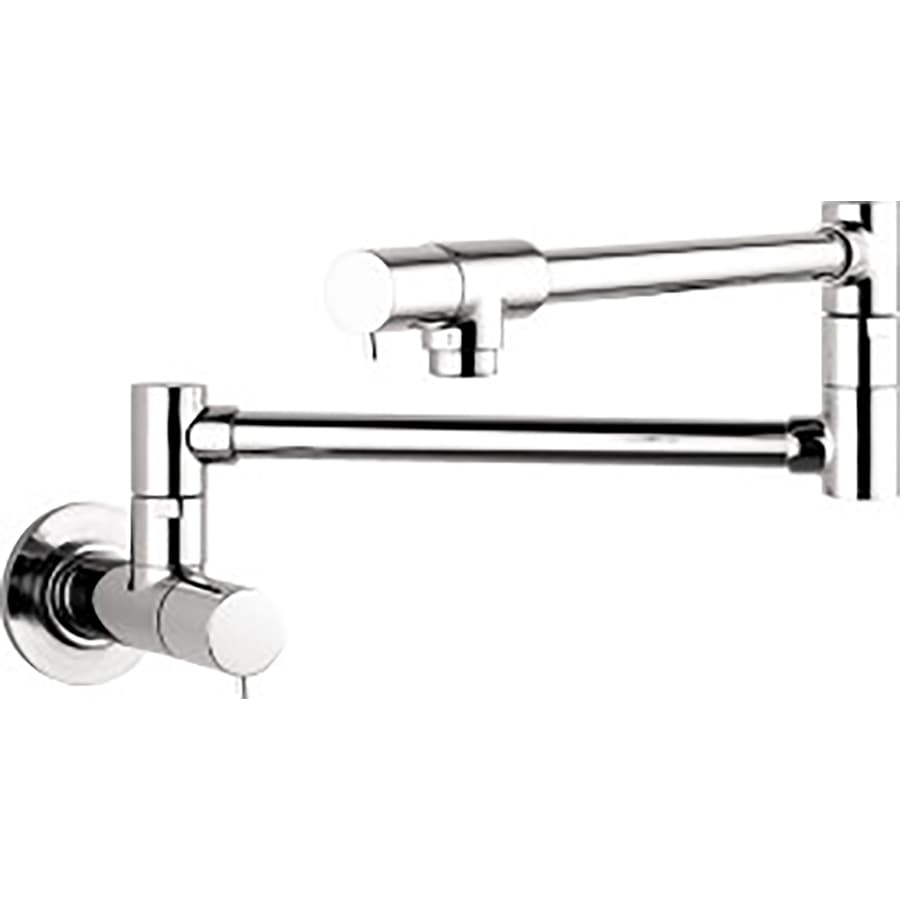Shop hansgrohe hg kitchen chrome 2 handle pot filler wall Pot filler faucet