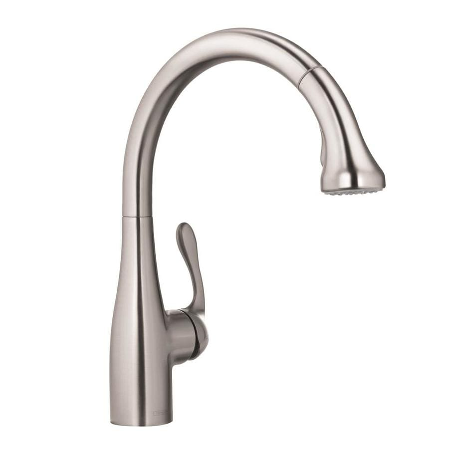 Shop Hansgrohe Hg Kitchen Steel Optik 1 Handle Pull Down