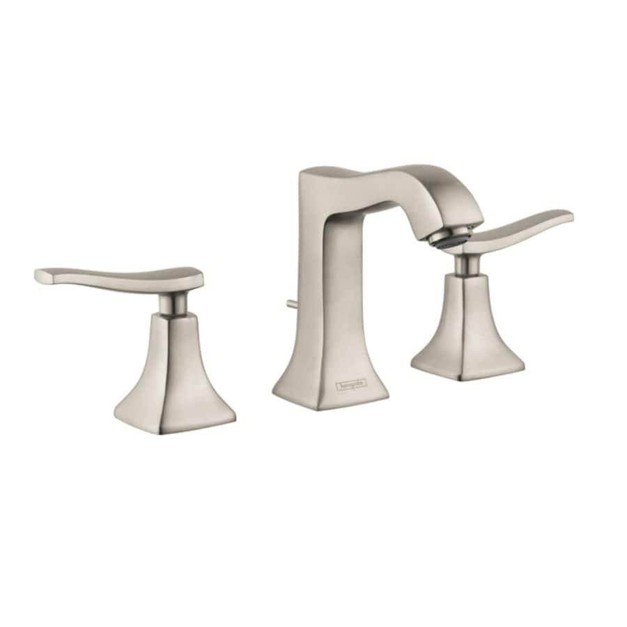 Hansgrohe Metris Brushed Nickel 2-Handle Widespread WaterSense Bathroom Faucet (Drain Included)