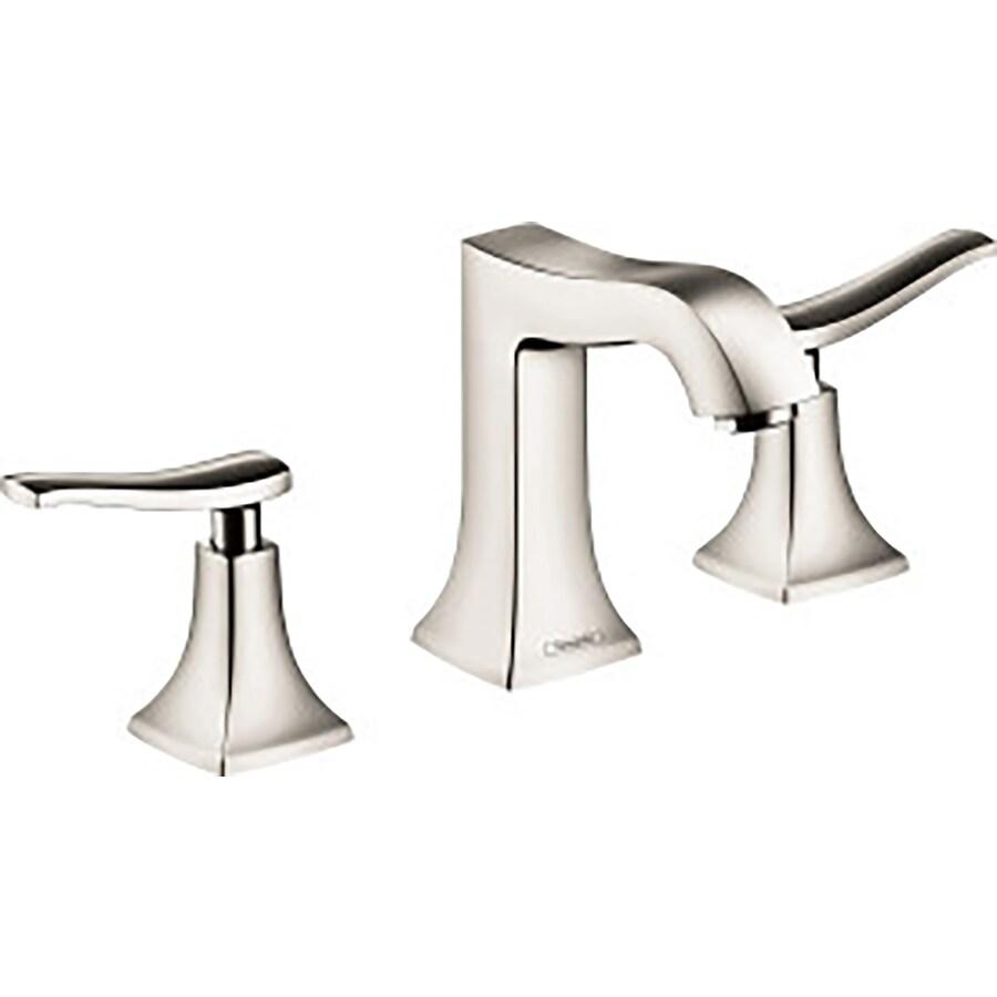 Hansgrohe Metris C Polished Nickel 2-Handle Widespread WaterSense Bathroom Faucet (Drain Included)