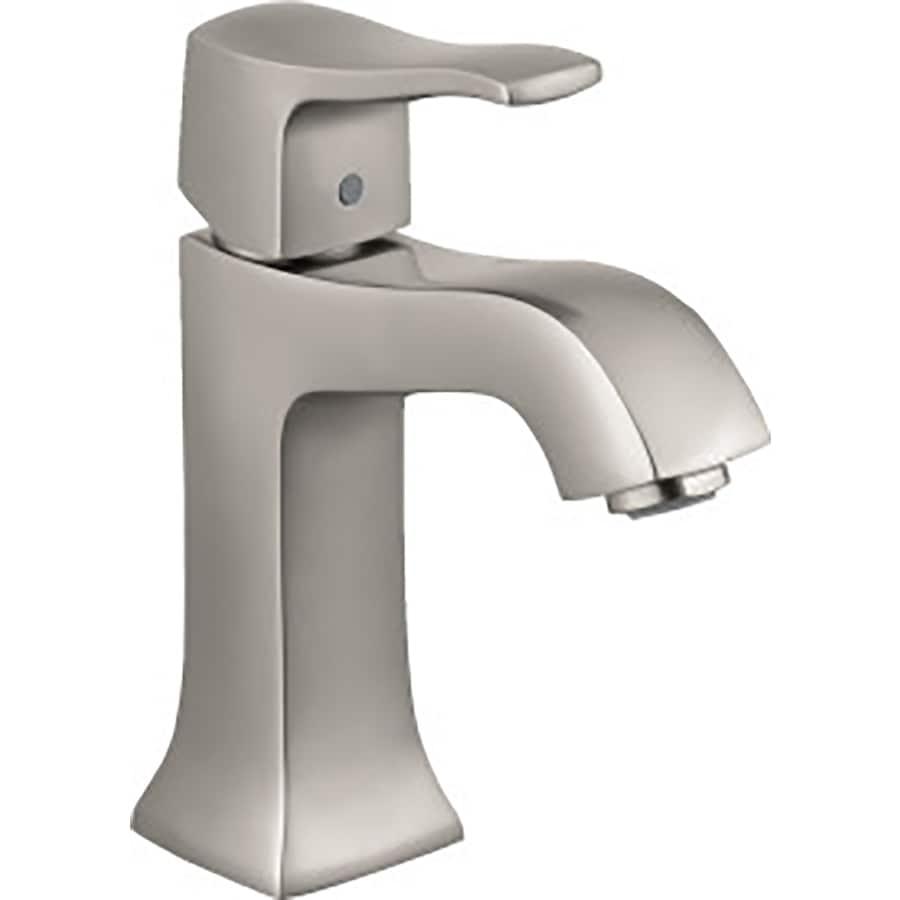 Hansgrohe Metris C Brushed Nickel 1-Handle Single Hole WaterSense Bathroom Faucet (Drain Included)