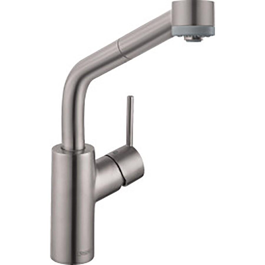 Hansgrohe HG Kitchen Steel Optik 1-Handle Low-Arc Kitchen Faucet
