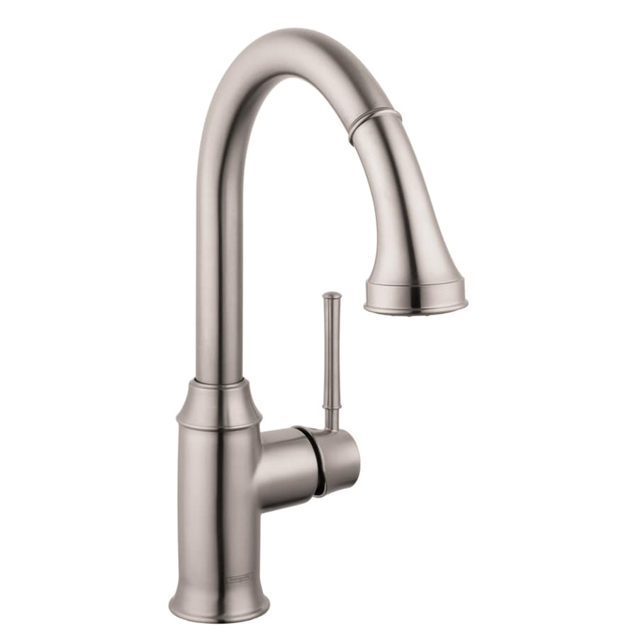 Hansgrohe HG Kitchen Steel Optik 1-Handle Pull-Down Kitchen Faucet