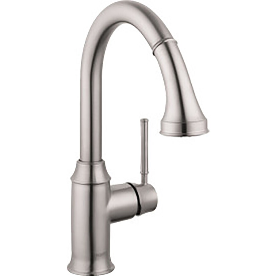 Hansgrohe HG Kitchen Steel Optik 1-Handle Bar and Prep Faucet