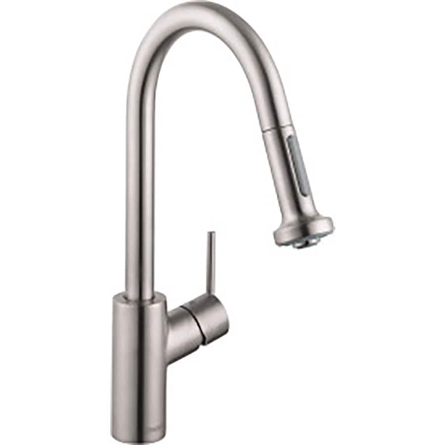 Hansgrohe HG Kitchen Steel Optik 1-Handle Pull-Down Kitchen Faucet