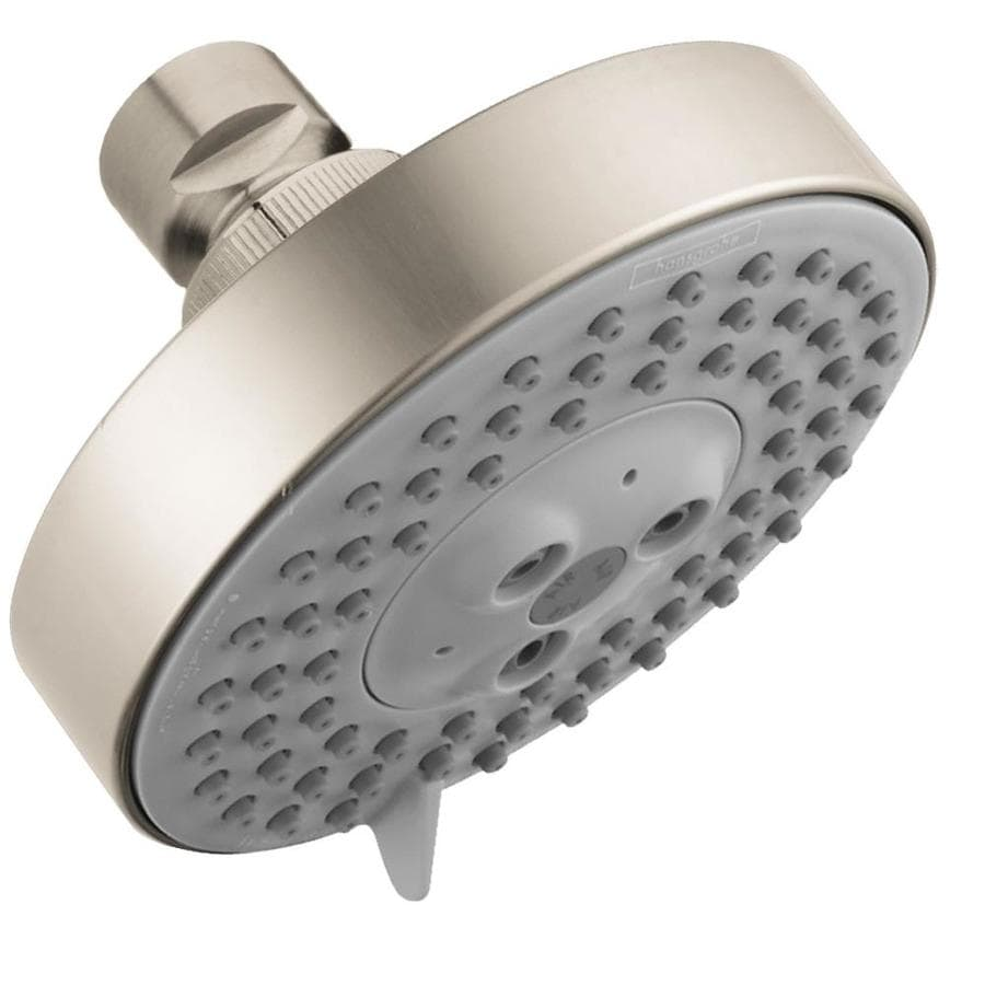 Hansgrohe HG 4-in 2.0-GPM (7.6-LPM) Brushed Nickel 3-Spray WaterSense Rain Showerhead