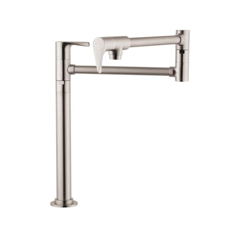 Hansgrohe Citterio Steel Optik 2-Handle Pot Filler Kitchen Faucet