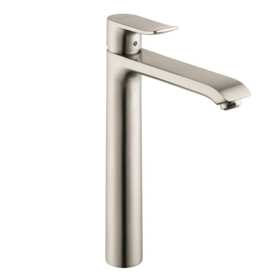 Hansgrohe Metris Brushed Nickel 1-Handle Single Hole WaterSense Bathroom Faucet (Drain Included)