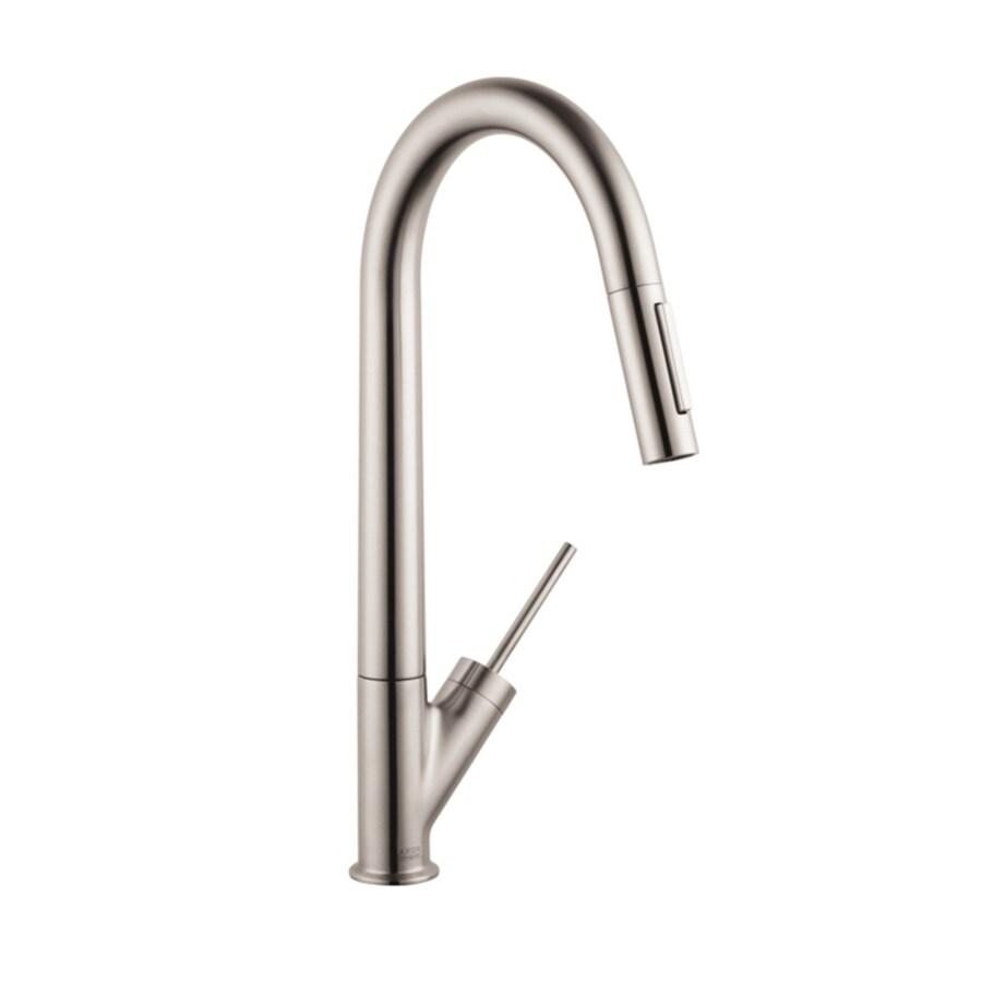 Hansgrohe Starck Steel Optik 1-Handle High-Arc Kitchen Faucet
