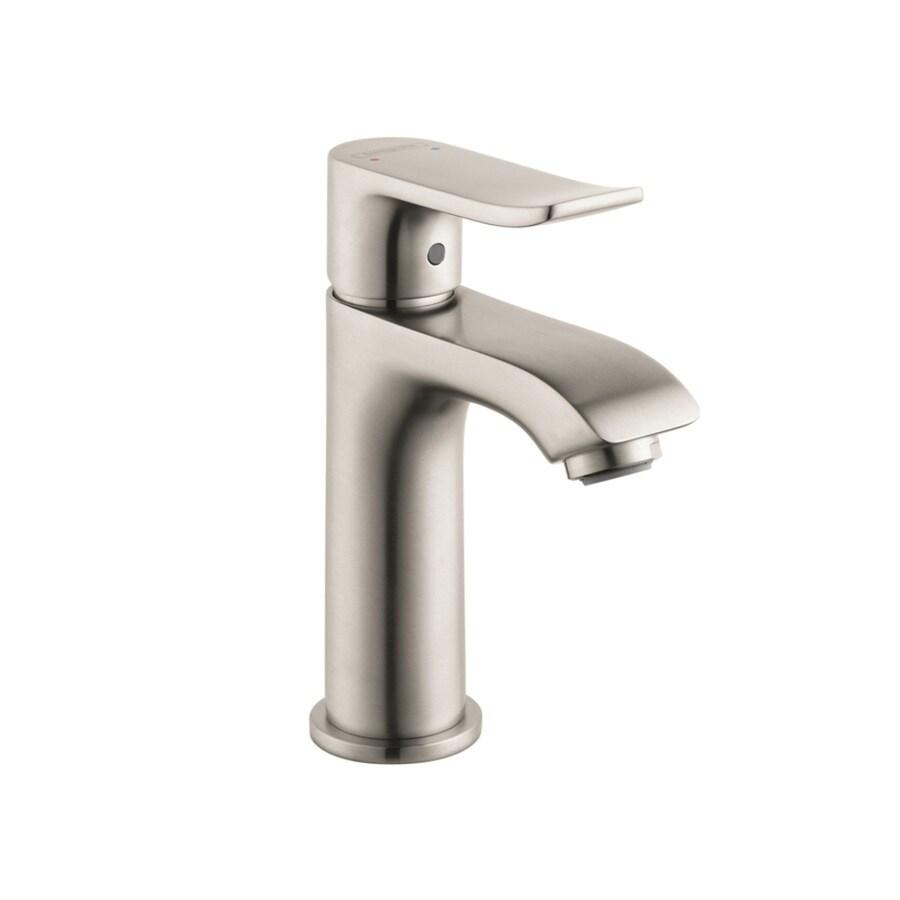 Hansgrohe Metris Brushed Nickel 1-Handle Single Hole WaterSense Bathroom Faucet (Drain Included)