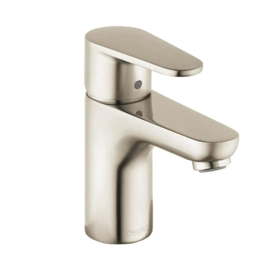 Shop Hansgrohe Talis Brushed Nickel 1 Handle Single Hole Watersense Bathroom Faucet Drain