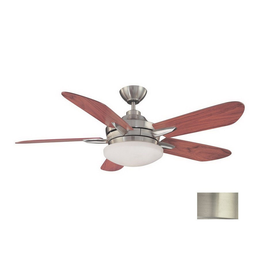Kendal Lighting 52-in Sirus Satin Nickel Ceiling Fan with Light Kit and Remote