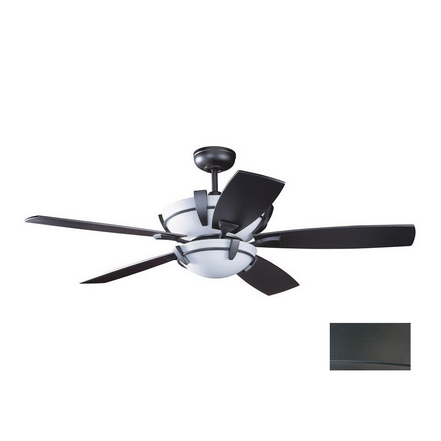 Kendal Lighting 52-in Calavera Natural Iron Ceiling Fan with Light Kit and Remote