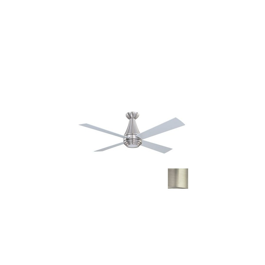 Kendal Lighting 50-in Novo Satin Nickel Ceiling Fan with Light Kit and Remote