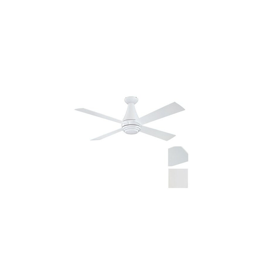 Kendal Lighting 50-in Novo White Ceiling Fan with Light Kit and Remote