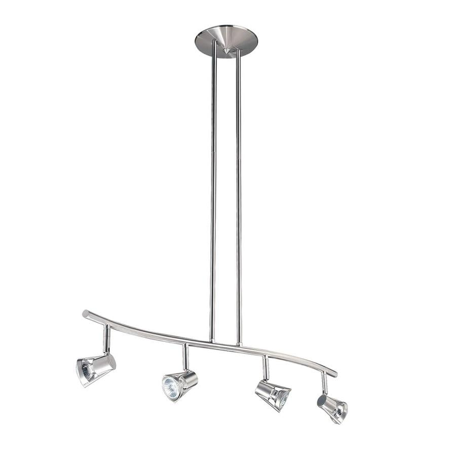 Kendal Lighting 4-Light 32.5-in Satin Nickel Step Linear Track Lighting Kit
