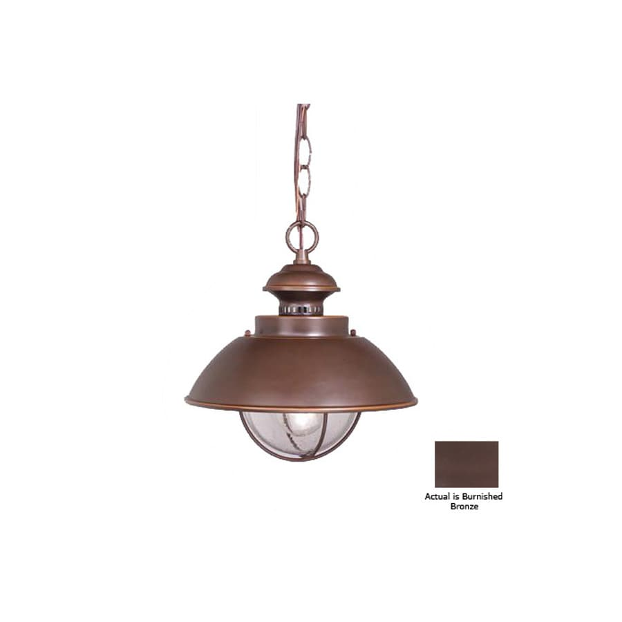 Cascadia Lighting Nautical 10-3/4-in Burnished Bronze Outdoor Pendant Light