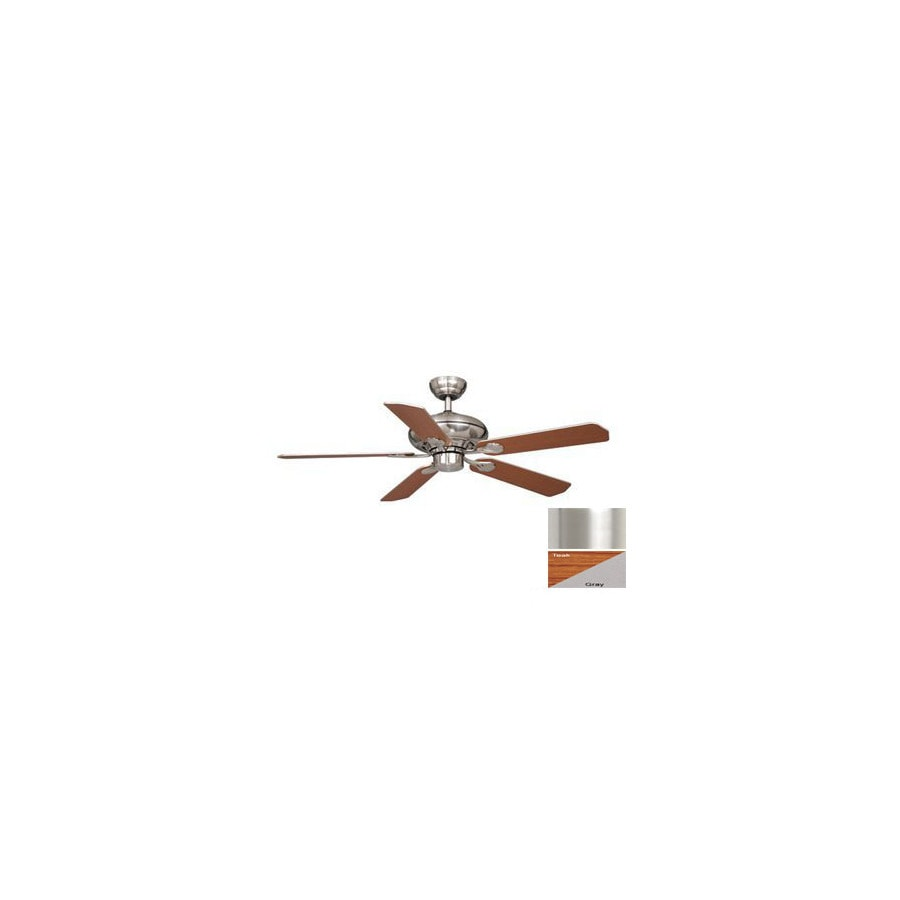 Cascadia Lighting 52-in Silver Medallion Satin Nickel Ceiling Fan