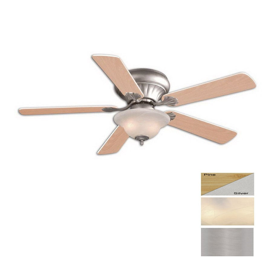Cascadia Lighting 52-in Porter Brushed Nickel Ceiling Fan with Light Kit
