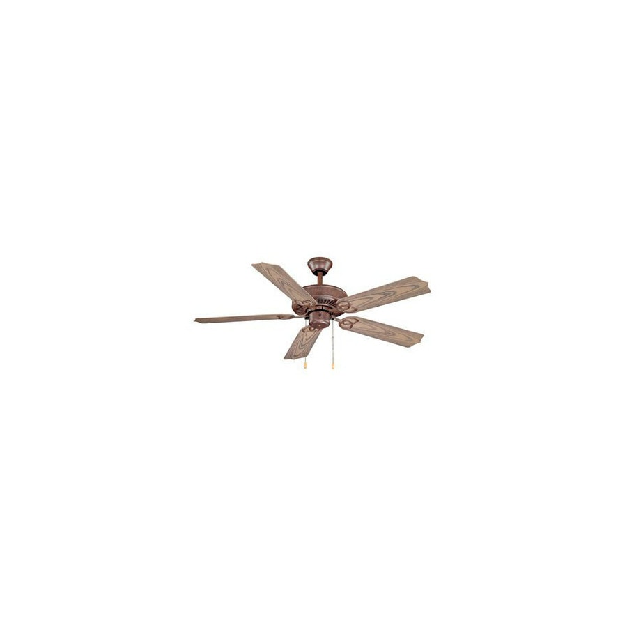 Cascadia Lighting 52-in Beacon Weathered patina Outdoor Ceiling Fan with Light Kit