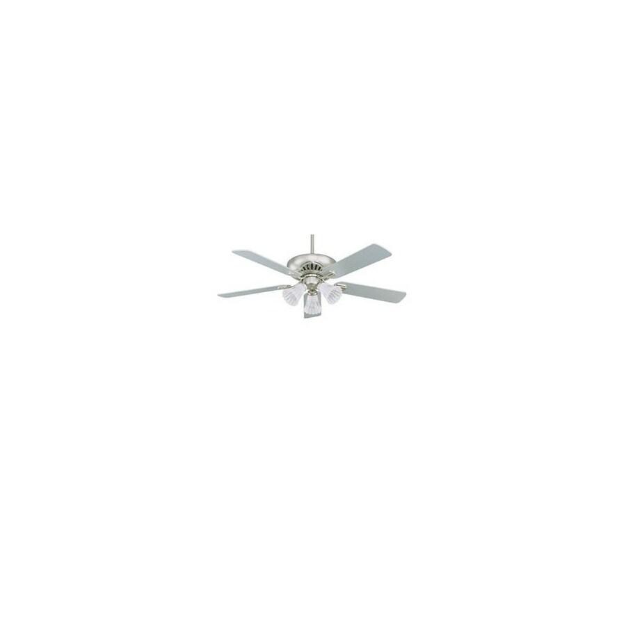 Nicor Lighting 52-in Aspen Pewter Ceiling Fan with Light Kit