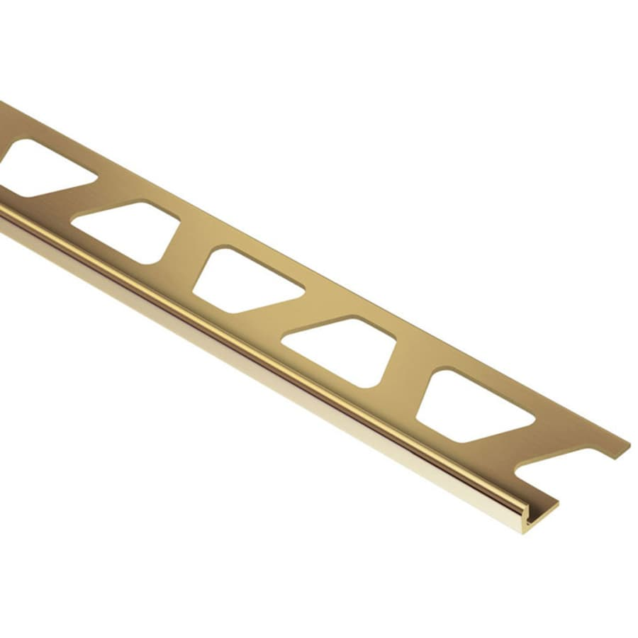 Schluter Systems 0.125-in W x 98.5-in L Brass Commercial/Residential Tile Edge Trim