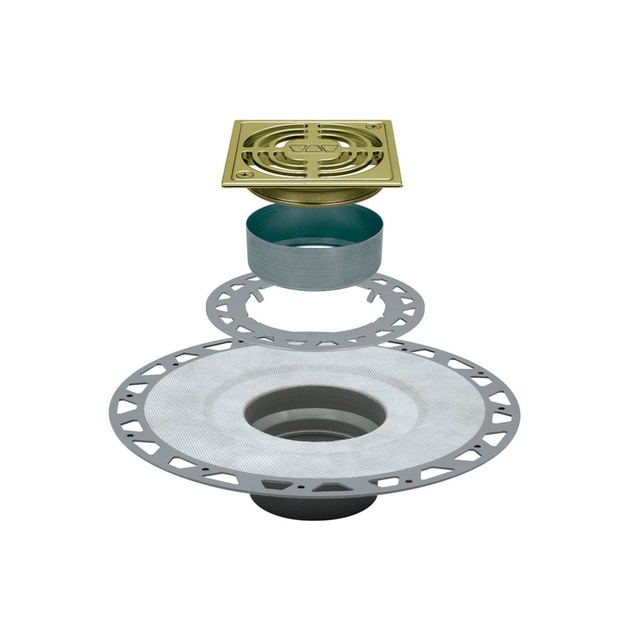 Schluter Systems 2-in Dia Gold PVC Shower Drain