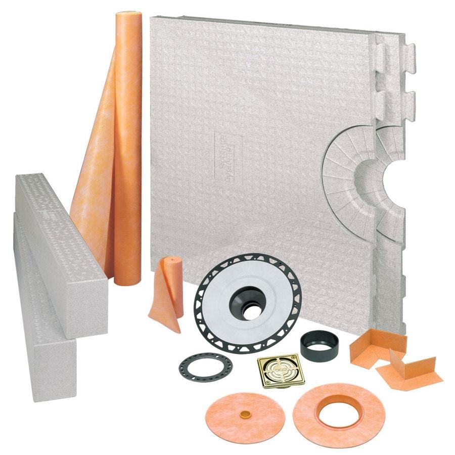 Schluter Systems Brushed Brass Styrene Shower Kit