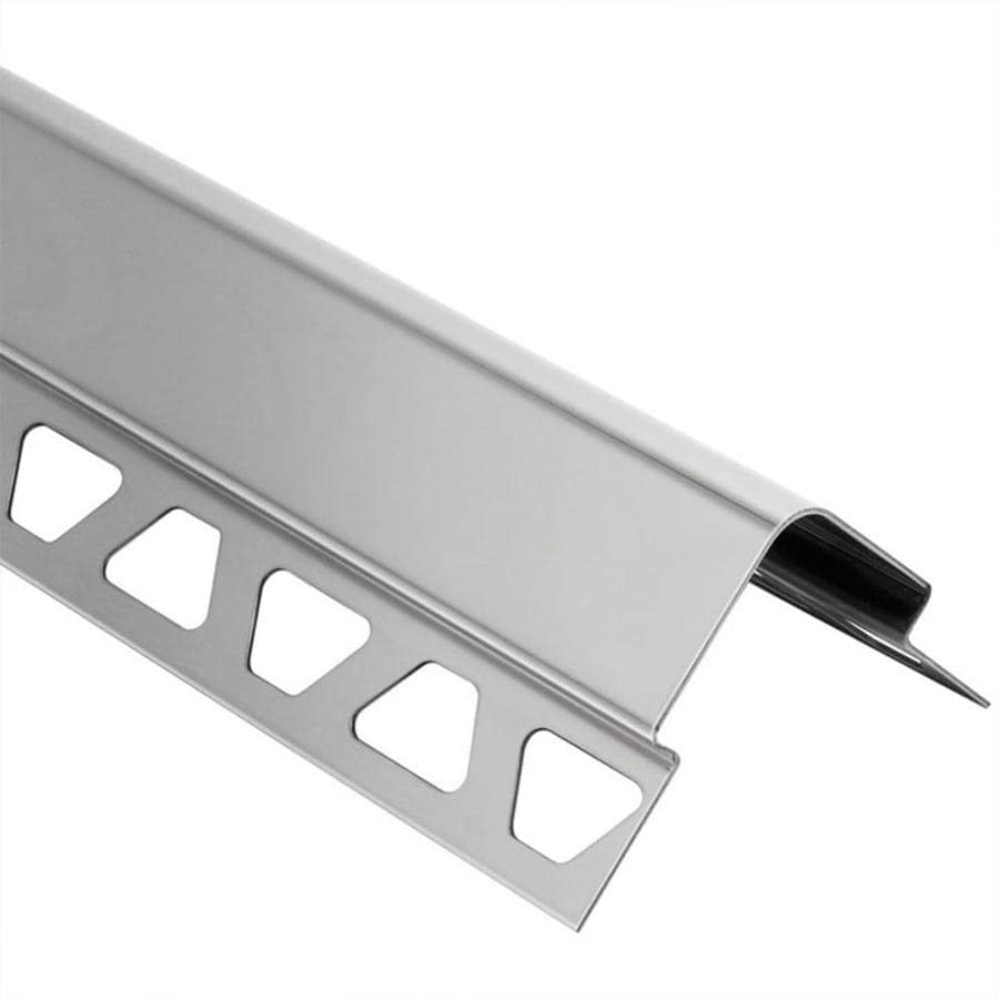 Schluter Systems 0.438-in W x 98.5-in L Steel Commercial/Residential Tile Edge Trim