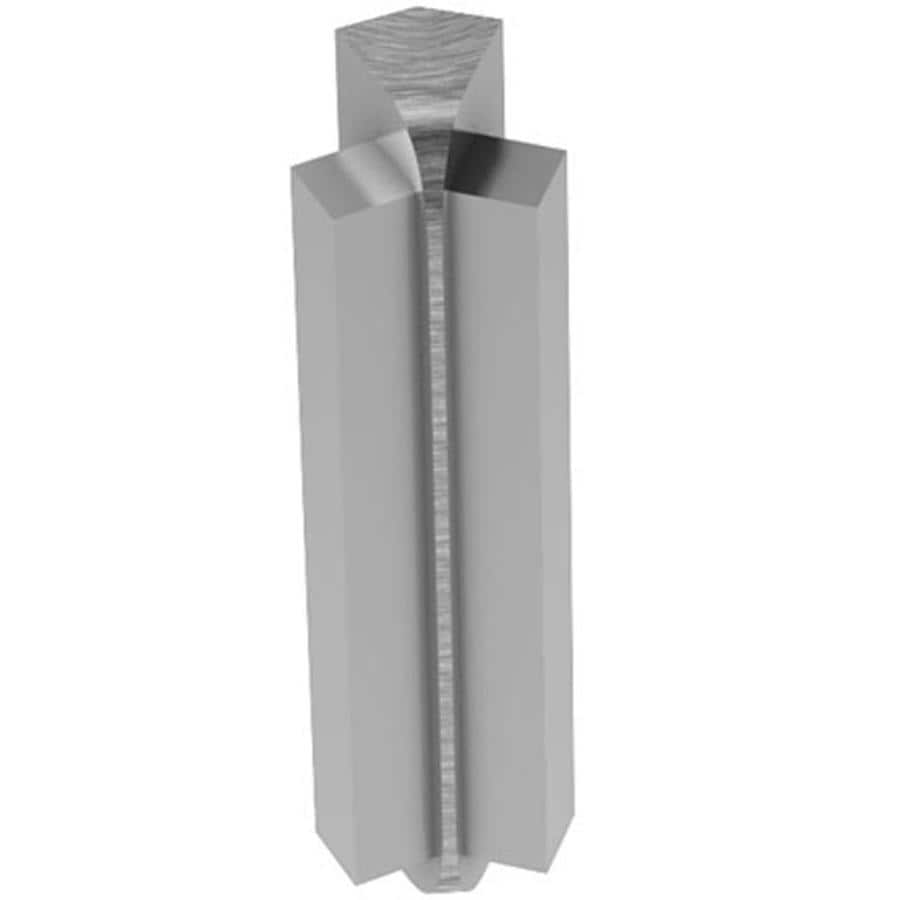 Schluter Systems 0.375-in W x 2.625-in L Aluminum Commercial/Residential Tile Edge Trim