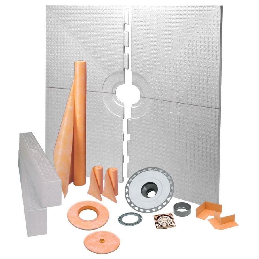 Schluter Systems Kerdi Brushed Copper Bronze Styrene Shower Kit