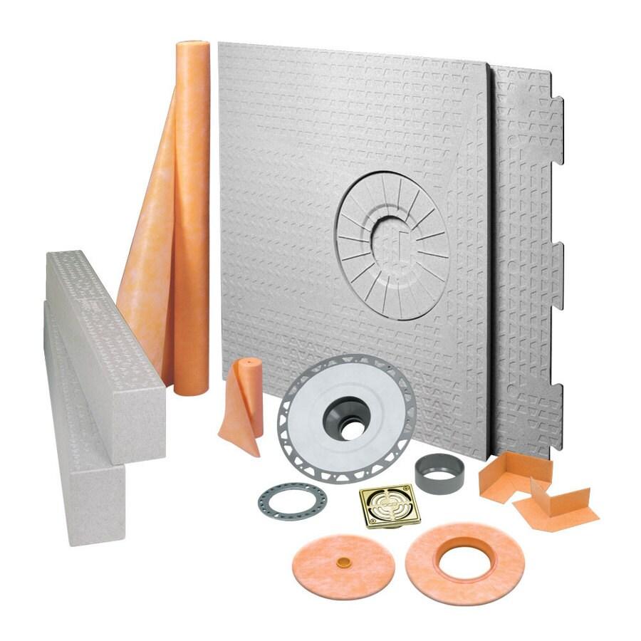 Schluter Systems Kerdi Brushed Brass Styrene Shower Kit