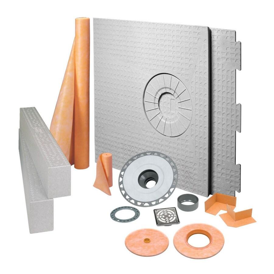 Schluter Systems Kerdi Stainless Steel Styrene Shower Kit