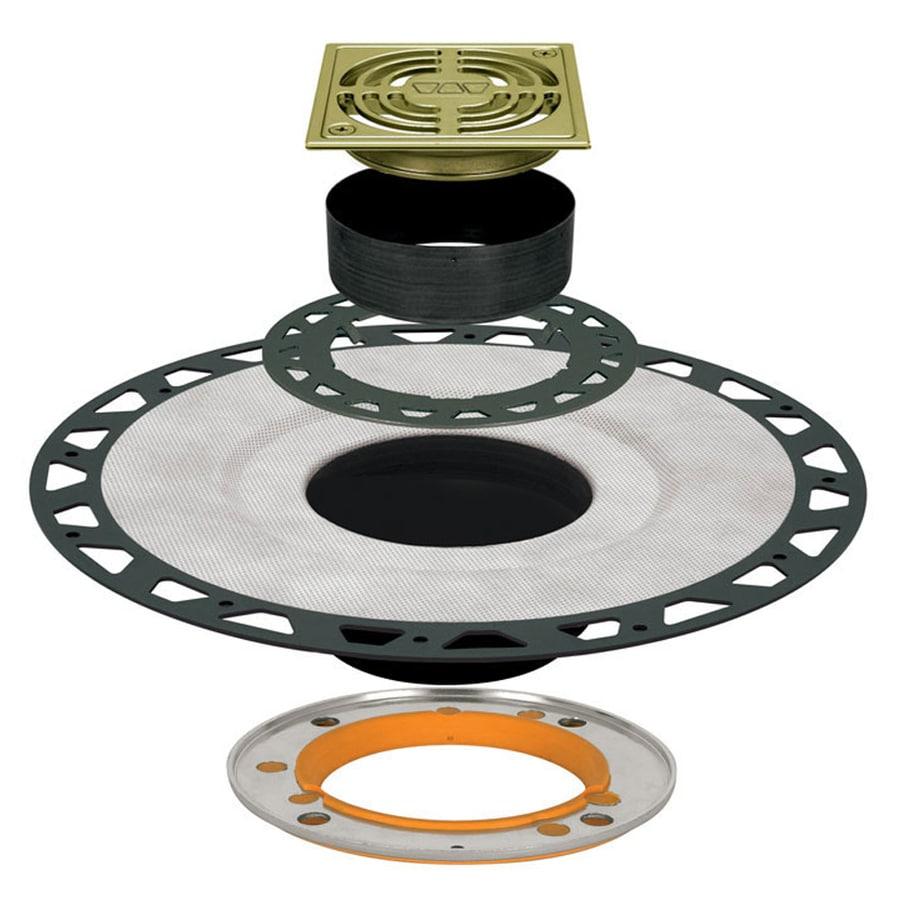 Schluter Systems Kerdi Brushed Brass Anodized Aluminum Shower Drain