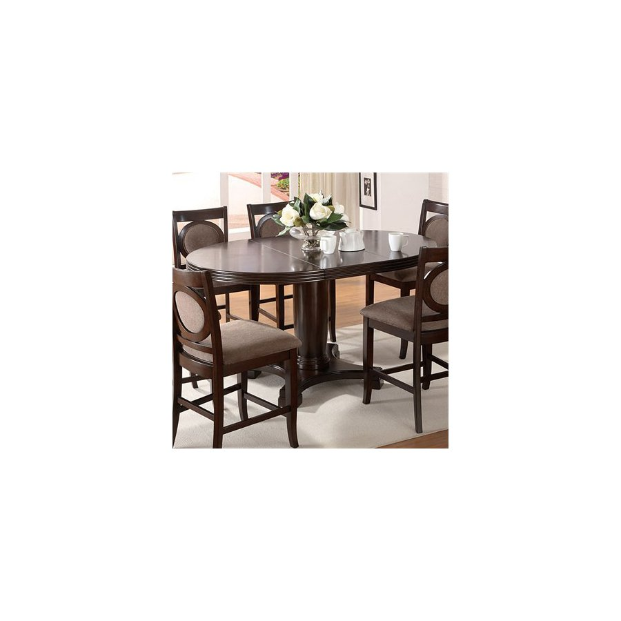Furniture of America Evelyn Dark Walnut Oval Dining Table
