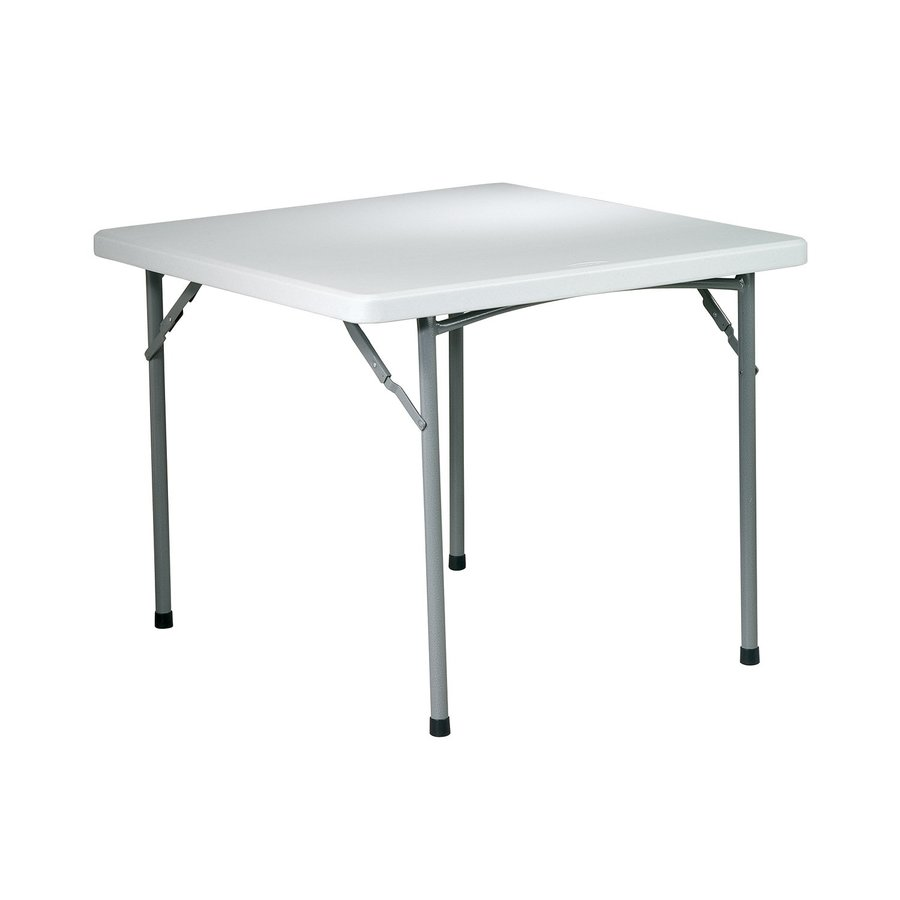 Office Star 36-in x 36-in Square Steel Powder-Coated Folding Table