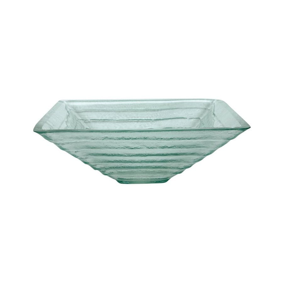 ... Fauceture Crystal Clear Glass Vessel Square Bathroom Sink at Lowes.com