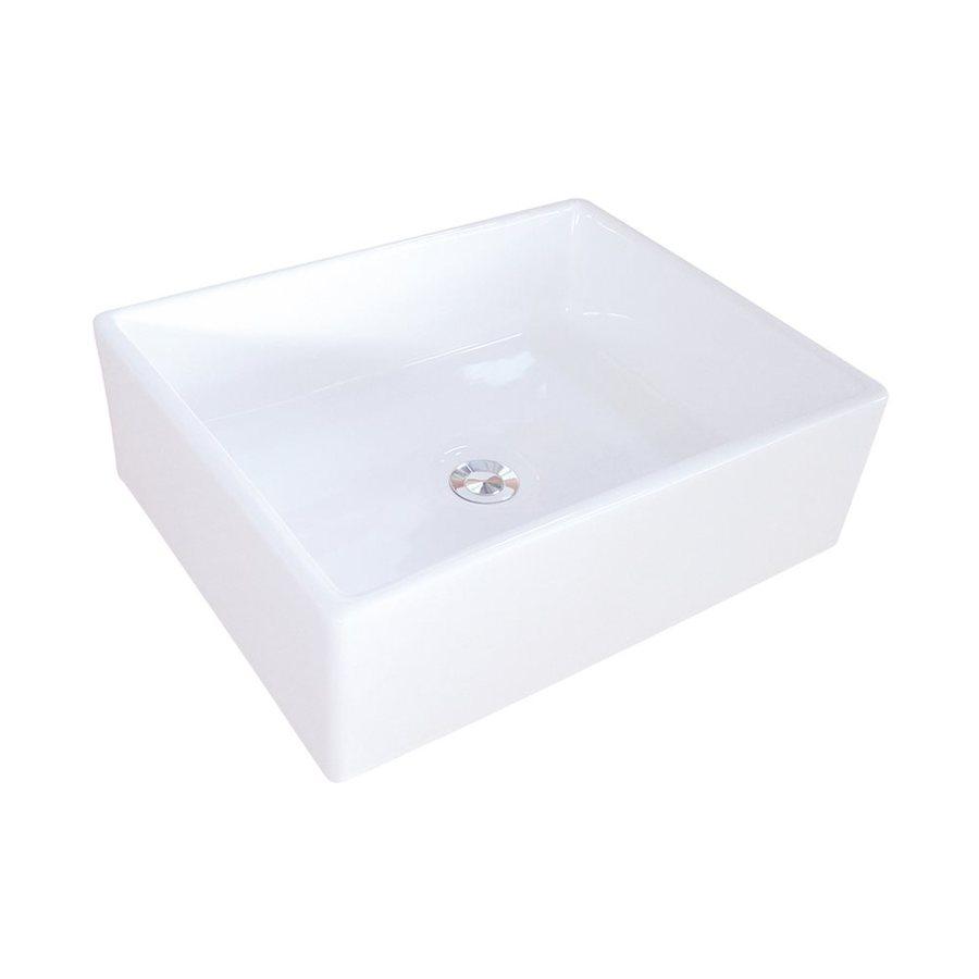 White Square Vessel Sink : ... of Design Elements White Vessel Square Bathroom Sink at Lowes.com