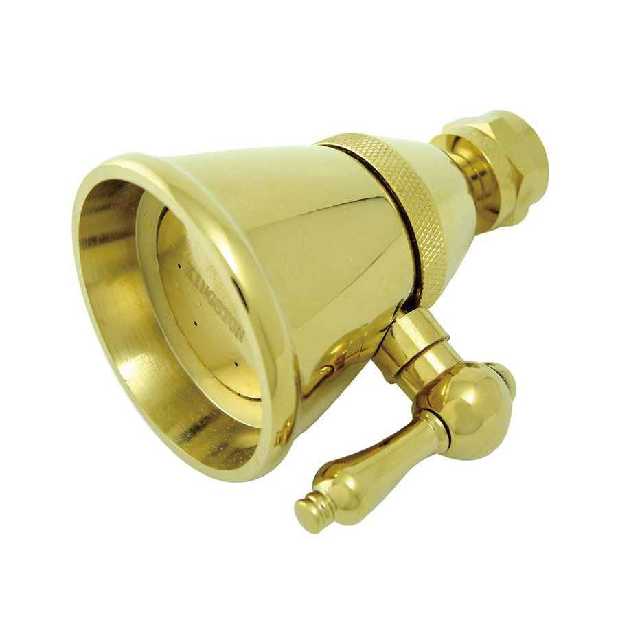 Elements of Design Hot Springs Victorian 2.25-in 2.5-GPM (9.5-LPM) Polished Brass Showerhead