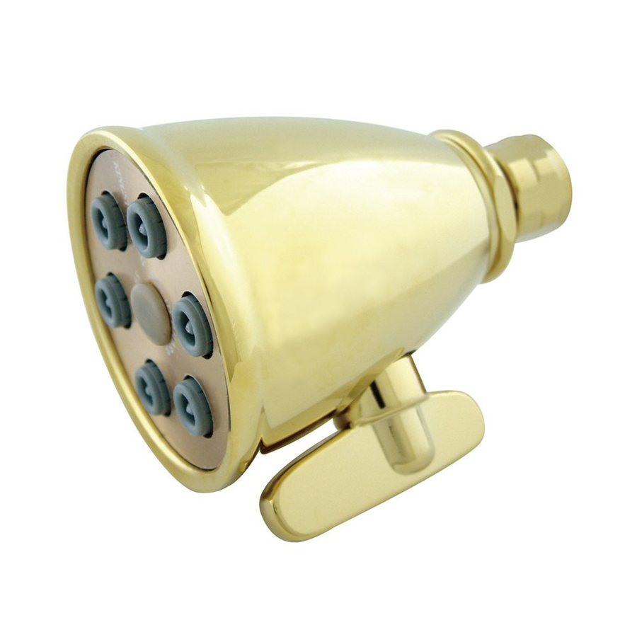 Elements of Design Victorian 3-in 2.5-GPM (9.5-LPM) Polished Brass Showerhead
